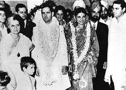 Menaka Gandhi with Sanjay Gandhi photo