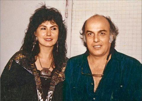 Pooja Bhatt with Mahesh Bhatt