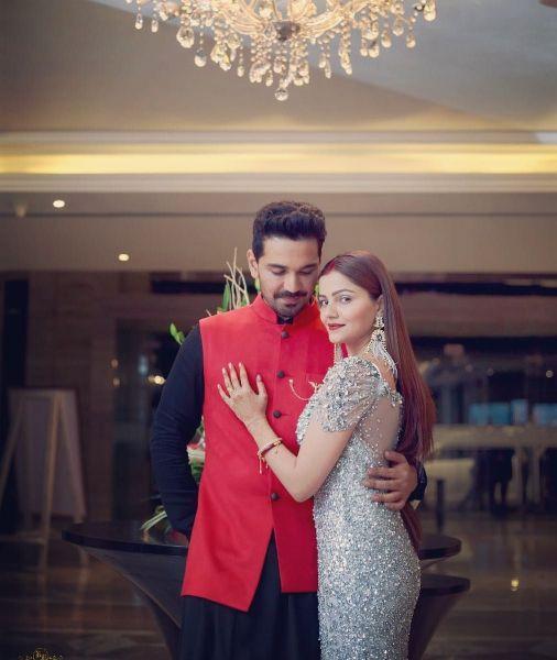 Abhinav with Rubina Dalik