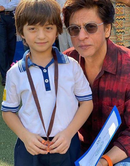 Abram Khan with Sha Rukh Khan