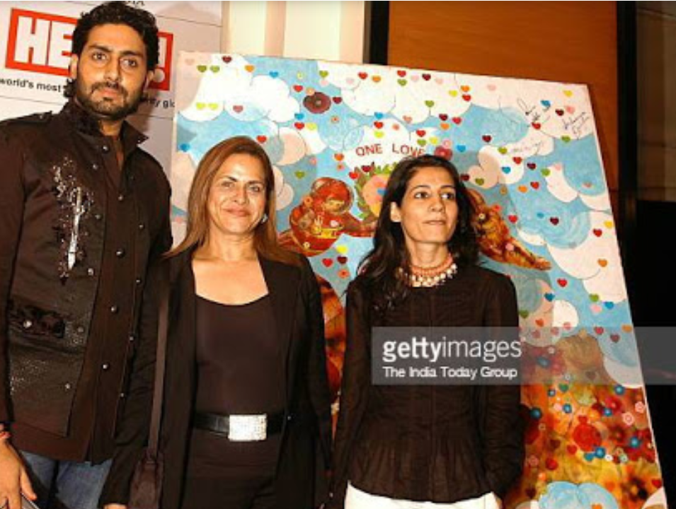 Namrata with Abhishek Bachchan