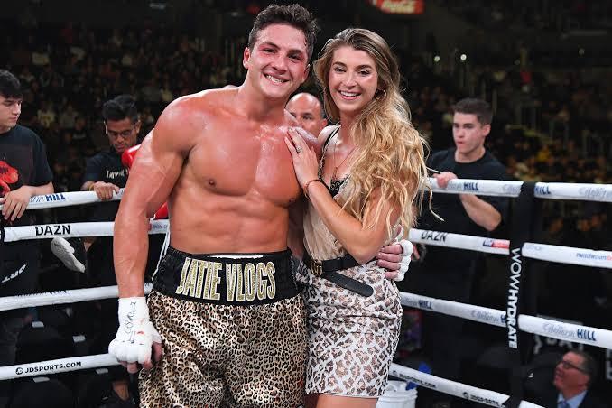 Josh Bureckner with his girlfriend